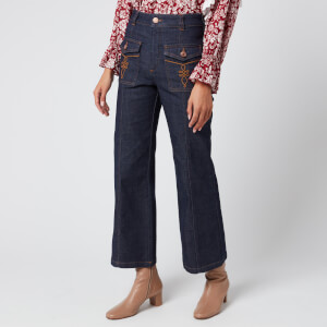 See By Chloé Women's Wide Leg Jeans - Royal Navy