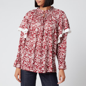 See By Chloé Women's Peonie Blouse - Red White