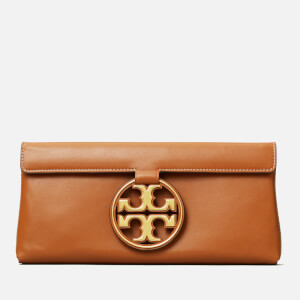 Tory Burch Women's Miller Metal Clutch - Aged Camello