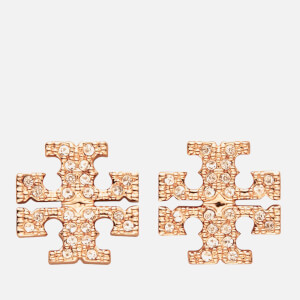 Tory Burch Women's Kira Pave Stud Earring - Rose Gold/Crystal
