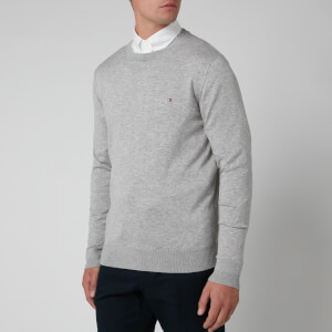 Tommy Hilfiger Men's Classic Crew Neck Knitted Jumper - Cloud Heather