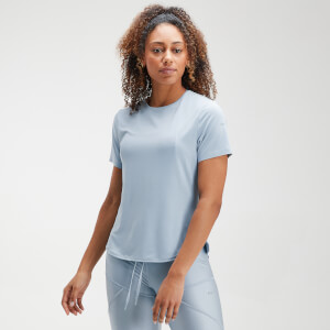 MP Women's Velocity Short Sleeve Top- Light Blue