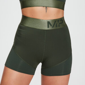 MP Damen Adapt Strukturierte Shorts – Dunkelgrün