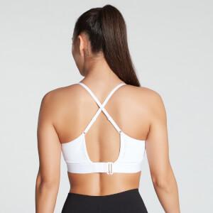 MP Women's Power Ultra Strappy Sports Bra- White