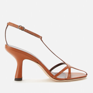 Simon Miller Women's Star Leather Heeled Sandals - Sepia