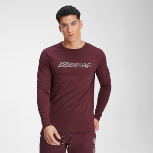 MP Men's Outline Graphic Long Sleeve Top - Washed Oxblood
