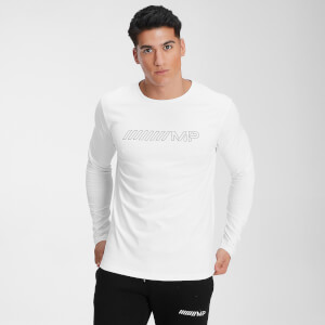 MP Men's Outline Graphic Long Sleeve Top - White