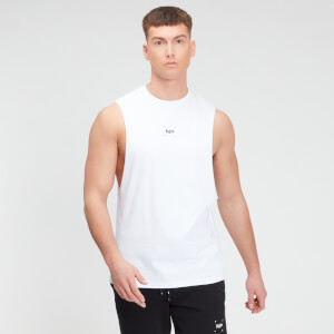 MP Men's Central Graphic Tank - White