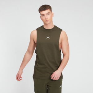 MP Men's Central Graphic Tank - Dark Olive