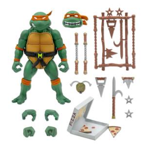 "Super7 Teenage Mutant Ninja Turtles Ultimates! Michelangelo 7"" Action Figure"