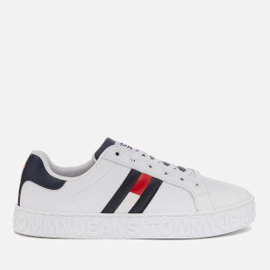 Tommy Jeans Women's Cool Warm Lined Trainers - Red/White/Blue