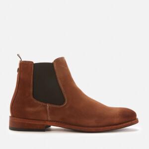 Barbour Men's Bedlington Chelsea Boots - Cognac Suede
