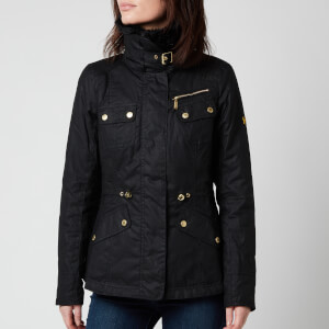 Barbour International Women's Brno Wax Jacket - Black