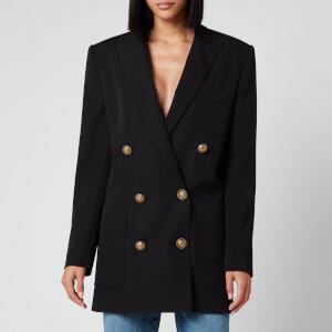 Balmain Women's 6 Button Boyfriend Jacket Dress - Black