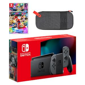 Nintendo Switch (Grey) Mario Kart 8 Deluxe Pack