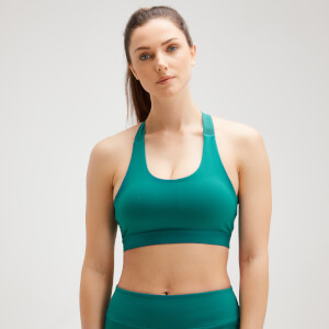 MP Women's Power Cross Back Sports Bra - Energy Green