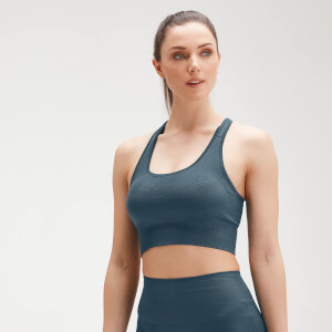 Soutien de Desporto Cruzado Atrás Shape Seamless Ultra para Senhora da MP - Deep Sea Blue
