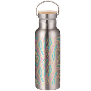 Psychedelic Ripples Portable Insulated Water Bottle - Steel