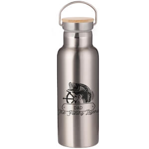 Dad The Fishing Legend Portable Insulated Water Bottle - Steel