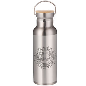 Old School Backpacker Portable Insulated Water Bottle - Steel