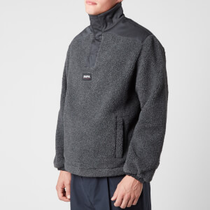 Napapijri X Martine Rose Men's T-Crantock Sherpa Fleece - Cloud Grey