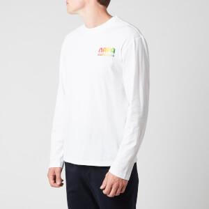 Napapijri X Martine Rose Men's S-Ogo Long Sleeve T-Shirt - Bright White