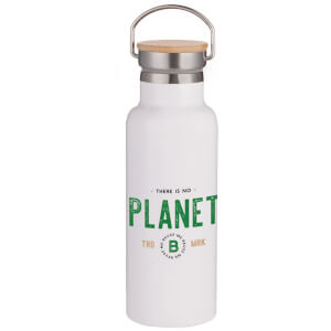 No Planet B Portable Insulated Water Bottle - White