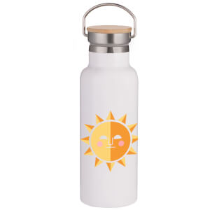 Sunshine Portable Insulated Water Bottle - White