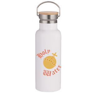 Holy Water Portable Insulated Water Bottle - White