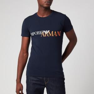 Emporio Armani Men's Megalogo T-Shirt - Blue