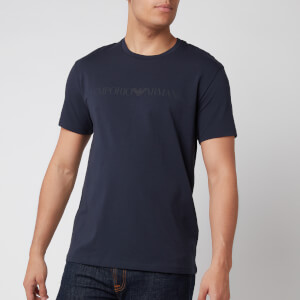 Emporio Armani Men's Textured Logoband T-Shirt - Blue