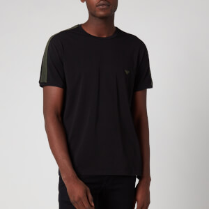 Emporio Armani Men's Twin Pack Logoband T-Shirt - Black