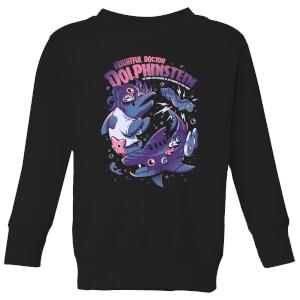 Ilustrata Doc Dolphinstein Kids' Sweatshirt - Black