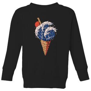 Ilustrata Kanagawa Flavour Kids' Sweatshirt - Black