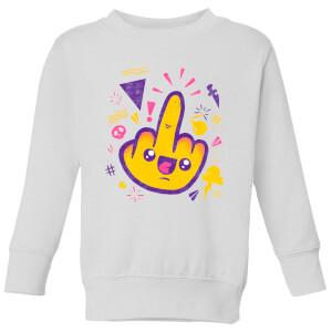 Ilustrata Fuck Off Kids' Sweatshirt - White