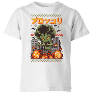 Ilustrata Christmas Broccozilla Kids' T-Shirt - White