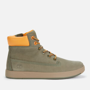 Timberland Kids' Davis Square 6 Inch Leather Boots - Dark Green