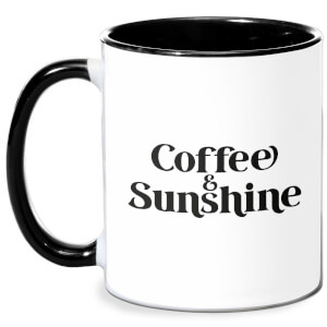 Coffee & Sunshine Mug - White/Black