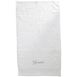 Get Naked Embroidered Towel