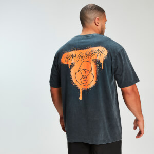 MP x Zack George Acid Wash Oversized Tee - Neon Orange
