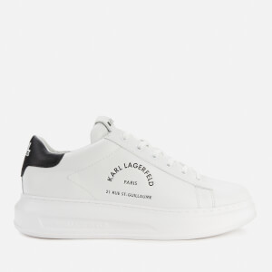 Karl Lagerfeld Men's Kapri Maison Karl Lace Leather Trainers - White