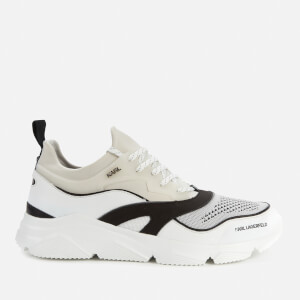 Karl Lagerfeld Men's Verge Lo Lace Runner Mix Trainers - Mid Grey