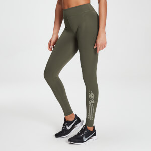 MP Women's Branded Training Leggings - Dark Olive