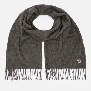 PS Paul Smith Men's Zebra Patch Scarf - Grey