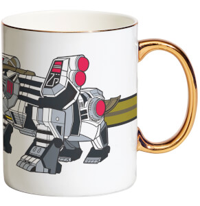Power Rangers White Tigerzord Bone China Gold Handle Mug