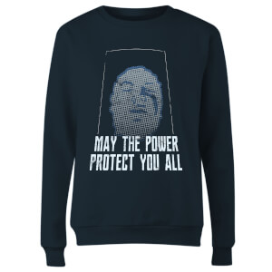 Power Rangers May The Power Protect You Women's Sweatshirt - Navy