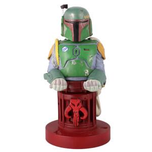 Figurine Cable Guys Star Wars Boba Fett 20 cm Support Chargeur Édition Limitée (40e anniversaire) Zavvi Exclusive