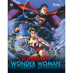 Eaglemoss DC Comics Superman and Wonder Woman Illustrated Guide Plus Collectibles Paperback