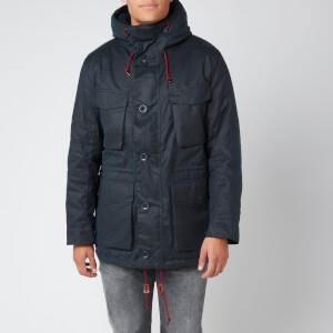 Barbour Men's Ordel Wax Jacket - Navy
