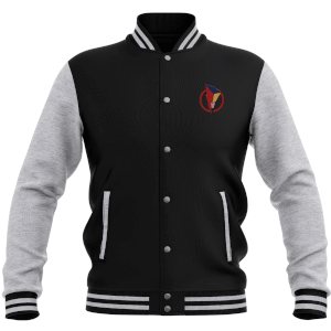 Power Rangers Bolt Patch Women's Varsity Jacket - Black / Grey